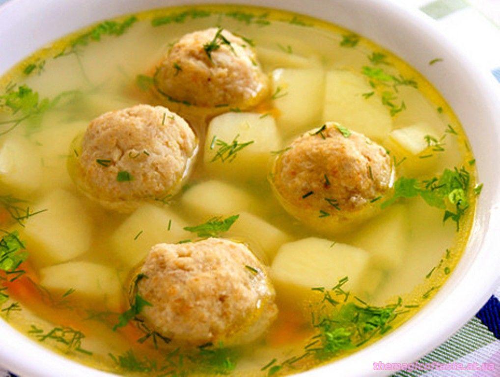 Суп с фрикадельками без поджарки пошаговый рецепт