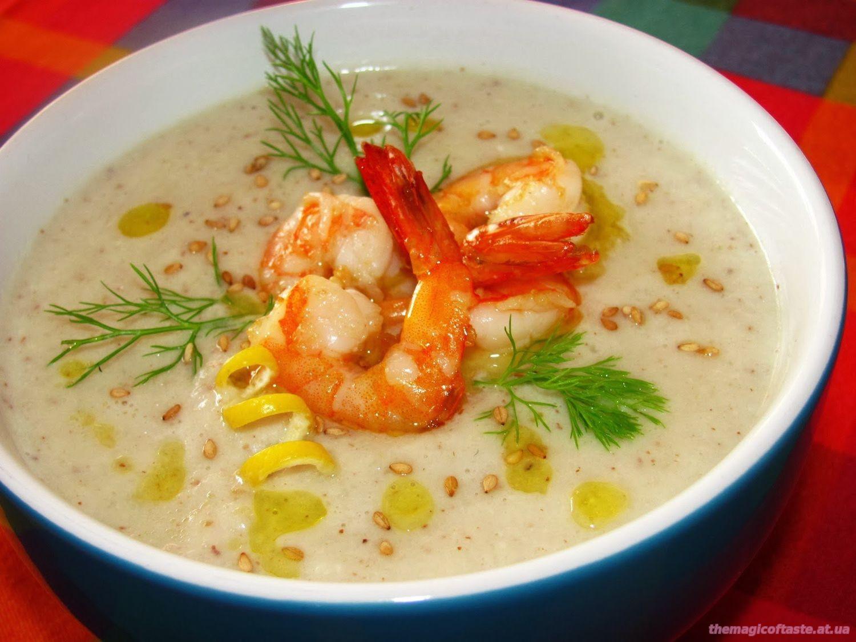 Суп с креветок его рецепт