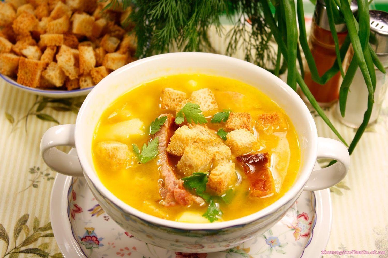 Суп гороховый с ребрышками пошаговый рецепт в мультиварке